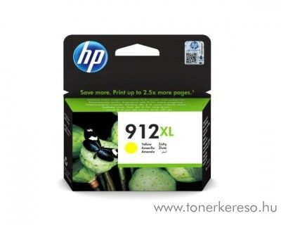 HP OfficeJet 8013 (912XL) eredeti yellow tintapatron 3YL83AE HP OfficeJet 8013 All-in-One tintasugaras nyomtatóhoz