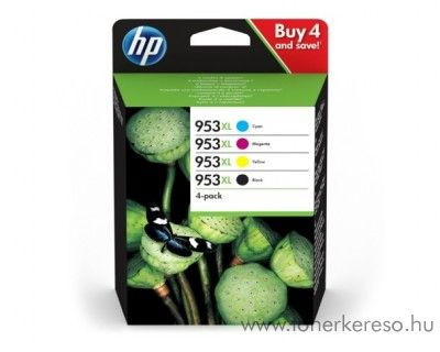 HP OfficeJet 8210/8218 eredeti BK/C/M/Y patron csomag 3HZ52AE HP OfficeJet Pro 8728 tintasugaras nyomtatóhoz