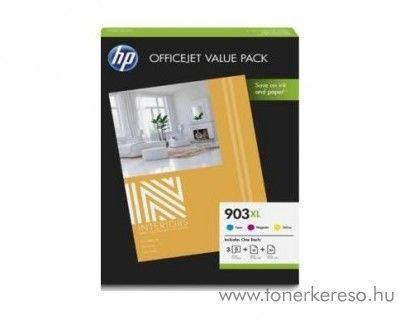 HP Officejet Pro 6960 eredeti CMY + 75lap A4-es papír 1CC20AE HP OfficeJet Pro 6964 tintasugaras nyomtatóhoz