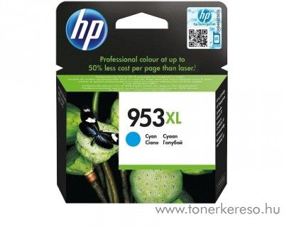 HP Officejet Pro 8210 (953XL) eredeti cyan tintapatron F6U16AE HP OfficeJet Pro 8210 tintasugaras nyomtatóhoz