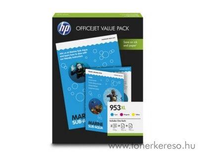 HP OfficeJet Pro 8210 eredeti CMY + 50 fotópapír csomag 1CC21AE HP OfficeJet Pro 8717 tintasugaras nyomtatóhoz