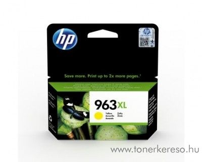HP OfficeJet Pro 9010 (963XL) eredeti yellow tintapatron 3JA29AE HP OfficeJet Pro 9023 All-in-One tintasugaras nyomtatóhoz