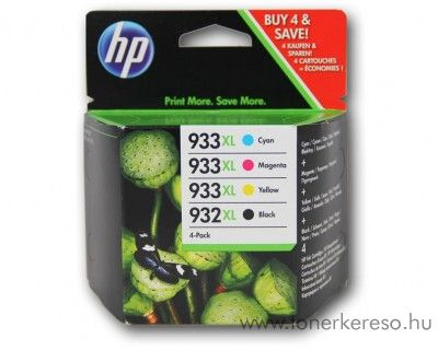 HP Ojet 6100 (932XL/933XL) eredeti CMYK tintapatron pack C2P42AE HP Officejet 7612 Wide Format e-All-in-One tintasugaras nyomtatóhoz