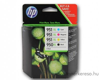 HP Ojetpro 8600 (950XL/951XL) eredeti CMYK tintap pack C2P43AE HP Officejet Pro 8610 e-All-in-One Printer  tintasugaras nyomtatóhoz
