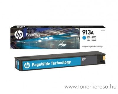 HP PageWide Pro 352 (913A) eredeti cyan tintapatron F6T77AE