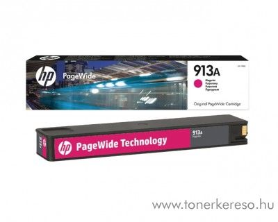 HP PageWide Pro 352 (913A) eredeti magenta tintapatron F6T78AE