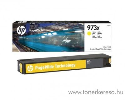 HP PageWide Pro 452 (973X) eredeti yellow tintapatron F6T83AE HP PageWide Pro 452dw tintasugaras nyomtatóhoz