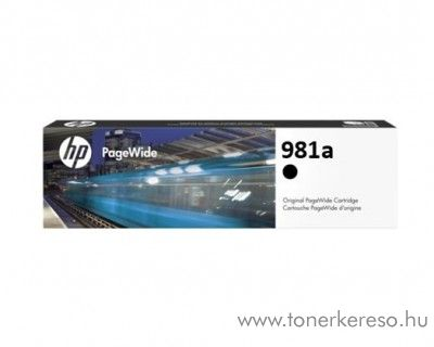 HP PW Enterprise 556dn (981a) eredeti black tintapatron J3M71A HP PageWide Enterprise Color Flow MFP 586z tintasugaras nyomtatóhoz