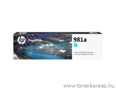 HP PW Enterprise 556dn (981a) eredeti cyan tintapatron J3M68A HP PageWide Enterprise Color Flow MFP 586z tintasugaras nyomtatóhoz