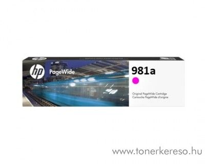HP PW Enterprise 556dn (981a) eredeti magenta tintapatron J3M69A HP PageWide Enterprise Color Flow MFP 586z tintasugaras nyomtatóhoz