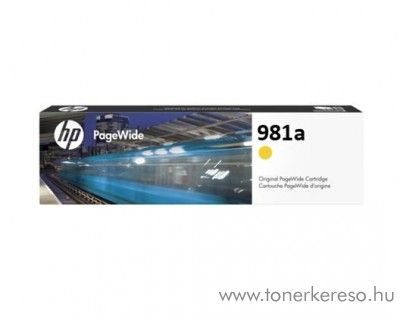 HP PW Enterprise 556dn (981a) eredeti yellow tintapatron J3M70A HP PageWide Enterprise Color 556xh tintasugaras nyomtatóhoz