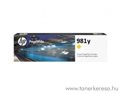 HP PW Enterprise 556dn (981y) eredeti yellow tintapatron L0R15A HP PageWide Enterprise Color Flow MFP 586z tintasugaras nyomtatóhoz