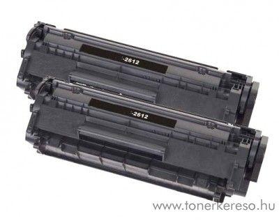 HP Q2612A felújított lézerkazetta/toner dupla pack 2db toner HP LaserJet 1022n lézernyomtatóhoz