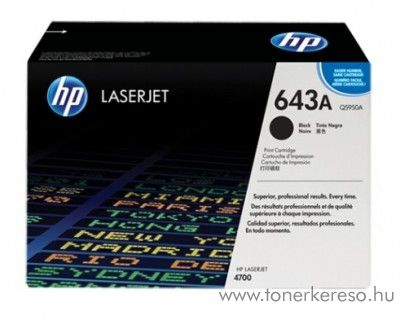 HP Q5950A (No 643A) black toner HP Laserjet 4700DN lézernyomtatóhoz