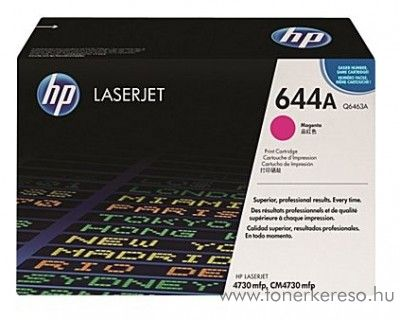 HP Q6463A (No 644A) magenta toner HP LaserJet 4730xs mfp lézernyomtatóhoz