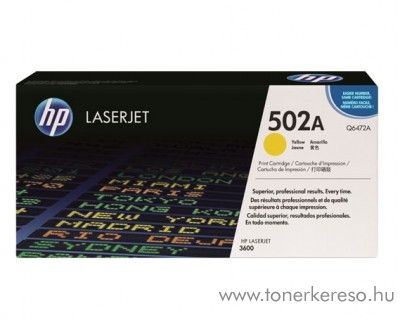 HP Q6472A (No 502A) yellow toner HP Color LaserJet 3600 lézernyomtatóhoz