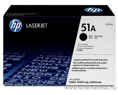 HP Q7551A toner HP LaserJet P3005X lézernyomtatóhoz