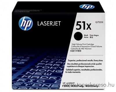 HP Q7551X toner HP LaserJet P3005X lézernyomtatóhoz