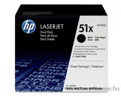 HP Q7553XD dupla toner HP LaserJet P2015N lézernyomtatóhoz