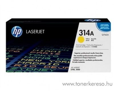 HP Q7562A (No 314A) yellow toner