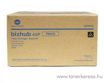Konica Minolta BizHub 40P (TN412) eredeti black toner A0FP023