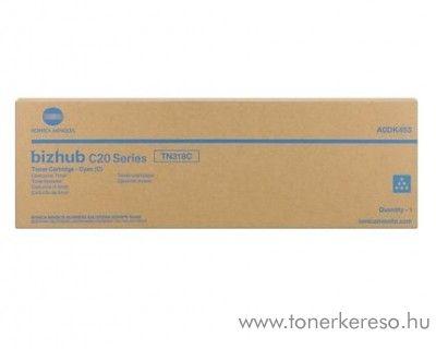 Konica Minolta BizHub C20 (TN318C) eredeti cyan toner A0DK453 Konica Minolta Bizhub C20 fénymásolóhoz