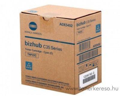 Konica Minolta BizHub C25 (TNP27C) eredeti cyan toner A0X5453