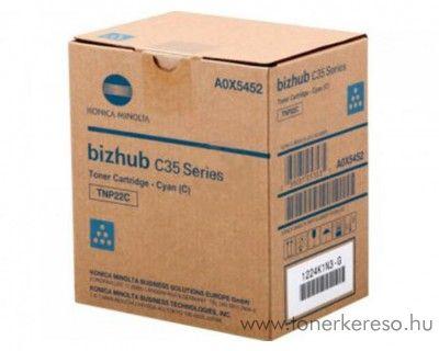 Konica Minolta BizHub C35 (TNP22C) eredeti cyan toner A0X5452 Konica Minolta BizHub C35 fénymásolóhoz