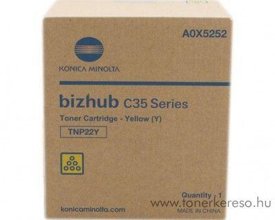 Konica Minolta BizHub C35 (TNP22Y) eredeti yellow toner A0X5252 Konica Minolta BizHub C35 fénymásolóhoz