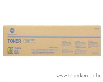 Konica Minolta BizHub C550 (TN611Y) eredeti yellow toner A070250 Konica Minolta Bizhub C451 fénymásolóhoz