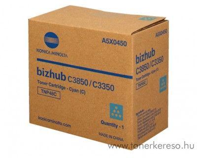 Konica Minolta Bizhub C 3350/3850 eredeti cyan toner A5X0450 Konica Minolta Bizhub C3350 fénymásolóhoz