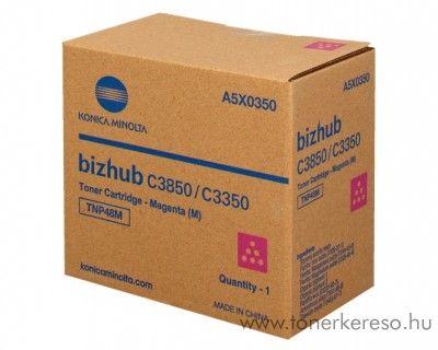 Konica Minolta Bizhub C 3350/3850 eredeti magenta toner A5X0350 Konica Minolta Bizhub C3850 fénymásolóhoz