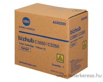 Konica Minolta Bizhub C 3350/3850 eredeti yellow toner A5X0250 Konica Minolta Bizhub C3850 fénymásolóhoz