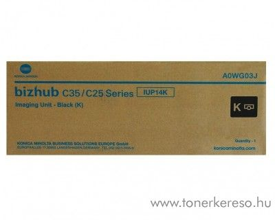 Konica Minolta C25/C35 (IUP14K) eredeti black drum A0WG03J Konica Minolta BizHub C35 fénymásolóhoz