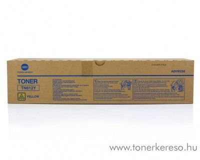 Konica Minolta C6501 (TN612Y) eredeti yellow toner A0VW250 Konica Minolta Bizhub Pro C5501 fénymásolóhoz