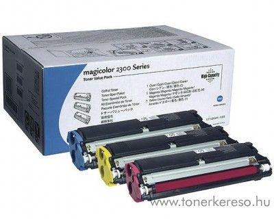 Konica Minolta MagiColor 2300 eredeti CMY toner pack 4576611