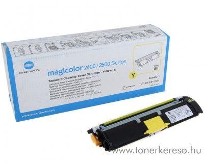 Konica Minolta MagiColor 2400 eredeti yellow toner A00W131 Minolta MagiColor 2500w lézernyomtatóhoz