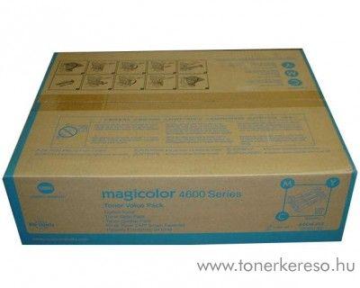 Konica Minolta MagiColor 4650 eredeti CMY toner pack A0DKJ51 Konica Minolta Magicolor 4650EN lézernyomtatóhoz