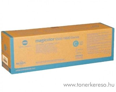 Konica Minolta MagiColor 5550 eredeti cyan high toner A06V453 Konica Minolta Magicolor 5550DT lézernyomtatóhoz