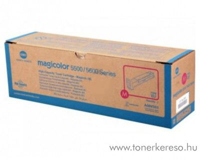 Konica Minolta MagiColor 5550 eredeti magenta high toner A06V353 Minolta QMS 5550 lézernyomtatóhoz