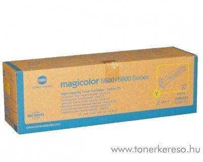 Konica Minolta MagiColor 5550 eredeti yellow high toner A06V253 Konica Minolta Magicolor 5570DTHF lézernyomtatóhoz