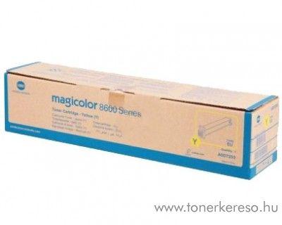 Konica Minolta MagiColor 8650 eredeti yellow toner A0D7253 Konica Minolta magicolor 8650DN lézernyomtatóhoz