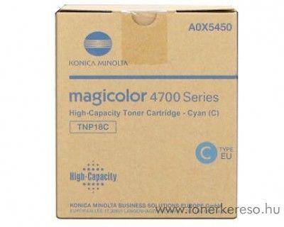 Konica Minolta MColor4750 (TNP18C) eredeti cyan toner A0X5450