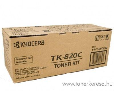Kyocera FSC8100DN (TK-820C) eredeti cyan toner 1T02HPCEU0 Kyocera FS-C8100DN lézernyomtatóhoz