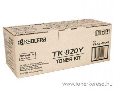 Kyocera FSC8100DN (TK-820Y) eredeti yellow toner 1T02HPAEU0 Kyocera FS-C8100DN lézernyomtatóhoz