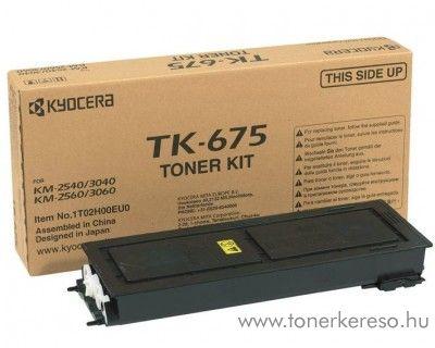 Kyocera KM2540 (TK-675) eredeti black toner 1T02H00EU0 Kyocera KM 3060 fénymásolóhoz