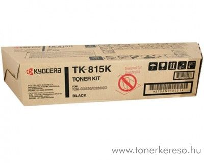 Kyocera KMC2630 (TK-815K) eredeti black toner 370AN010 Kyocera KM-C2630DRPS fénymásolóhoz