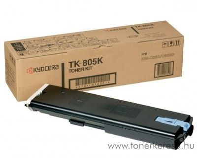 Kyocera KMC850 (TK-805K) eredeti black toner 370AL010 Kyocera KM-C850PN fénymásolóhoz