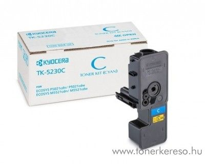 Kyocera P5021cdn (TK5230C) eredeti cyan toner 1T02R9CNL0 Kyocera ECOSYS P5021cdw lézernyomtatóhoz