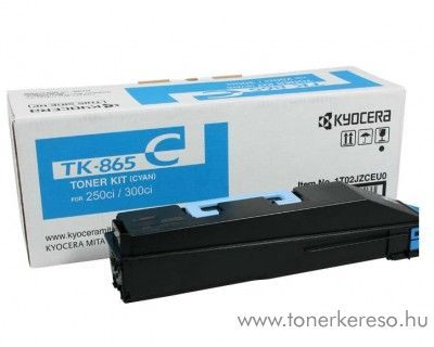Kyocera TaskAlfa250ci (TK-865C) eredeti cyan toner 1T02JZCEU0 Kyocera TASKalfa 300ci fénymásolóhoz